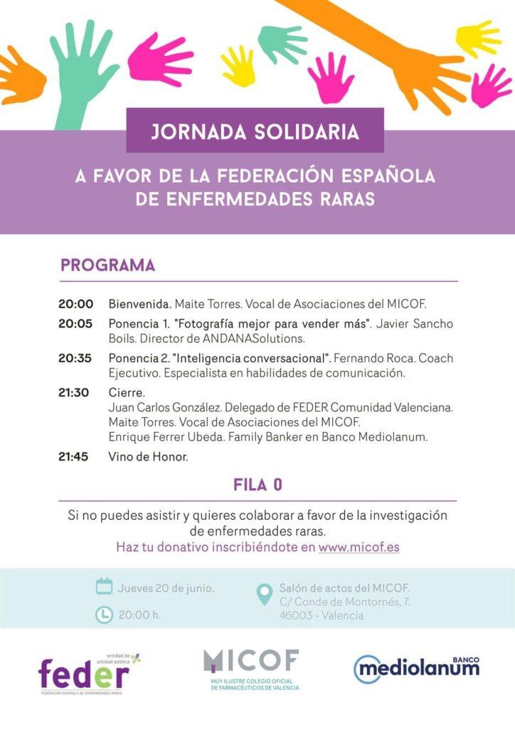 Jornada solidaria a favor de la Federación Española de Enfermedades Raras