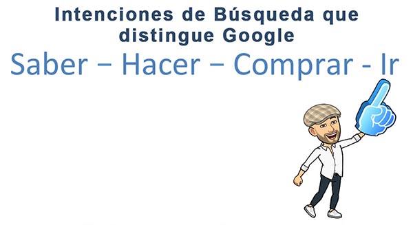 Intenciones de búsqueda que distingue Google