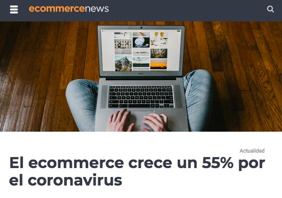 El ecommerce crece un 55%